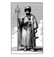 vintage engraving bektashi dervish vector image vector image