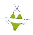 woman bikini lingerie fashion vector image