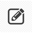 write icon memo quick note pencil and contract vector image vector image