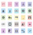 shop set black icon on color vector image