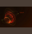 abstract futuristic hud 3d object vector image