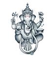 Indian god Ganesha vector image