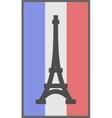 Paris symbol on flag of France background vector image