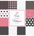 12 Cute different dotted seamless patterns vector image vector image
