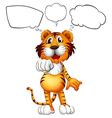 A thinking tiger vector image vector image