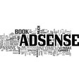 adsense revenue exposed review text word cloud vector image vector image