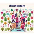 Amsterdam symbols vector image