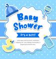 baby shower boy frame background vector image vector image