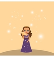 Beautiful cartoon princess vector image vector image
