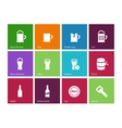 Beer icons on color background vector image vector image