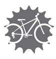 bicycle in a gear vector image vector image
