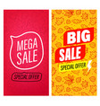 big sale and mega sale banners clip-art vector image vector image