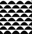 Black and white seamless curved shape pattern vector image vector image