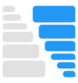 blank message bubbles chat or messenger vector image