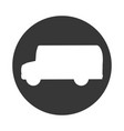 bus silhouette isolated icon vector image