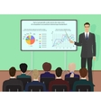 Businessman expert giving presentation seminar vector image vector image
