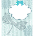 card with dragonfly vector image vector image