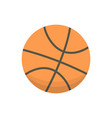 cartoon basketball ball isolated vector image vector image