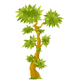 Cartoon Exotic Tree vector image vector image