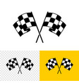 checkered race flags crossed two start or finish vector image vector image