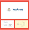 chemical bonding logo design with tagline front vector image