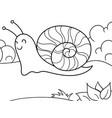 children coloring slug snail in nature vector image vector image