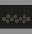 christmas balls decoration vector image vector image