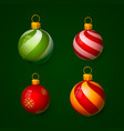 christmas balls in the form of a ball vector image