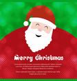 christmas greetings card with christmas santa vector image vector image