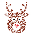 Christmas reindeer rudolf icon made of circles vector image