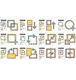 Content Edition line icon set vector image vector image