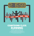 Countdown Clock At Finish Line vector image vector image
