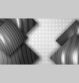 creative black embossed squares vector image vector image