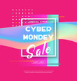 cyber monday concept banner sale poster vector image vector image