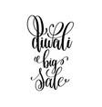 diwali big sale black calligraphy hand lettering vector image vector image