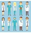 Doctors nurses medical staff people vector image vector image