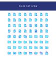 document files icon filled outline set vector image vector image