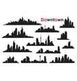 Downtown vector image vector image