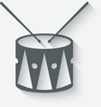 drum music icon vector image