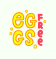 egg free icon food intolerance symbol allergy vector image vector image