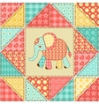 Elephant quilt pattern vector image vector image
