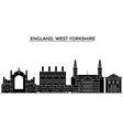 england west yorkshire architecture city vector image