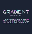 english alphabet gradient letters flat set vector image
