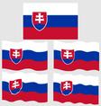 flat and waving flag slovakia vector image