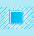 frame blue line backgroundpaper cut style vector image vector image