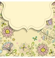 frame on the background of flower doodles patterns vector image vector image