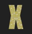 gold glitter or sequins letter - x vector image