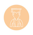 graduation cap design vector image vector image