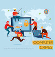 hacker group composition vector image vector image