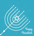 happy hanukkah poster with menorah vector image